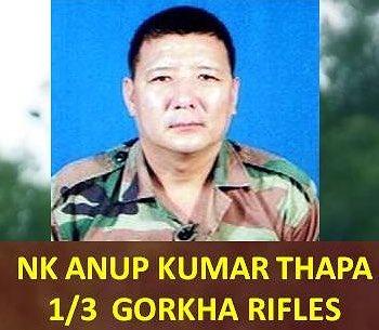 Anup Kumar Thapa Martyrd fighting Pakistani terrorist