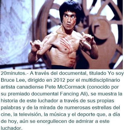 La grandeza de la impronta de Bruce Lee, reflejada en un documental de DMAX