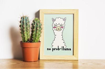 free printable llama art