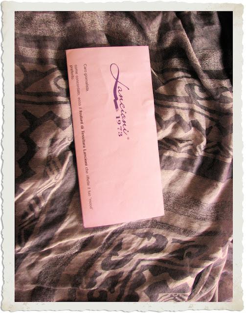 foulard denim Tessitura Lancioni
