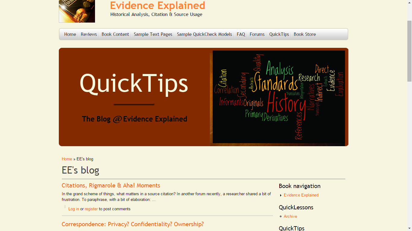 Genea-Musings: Tuesday's Tip: Evidence Explained Website has