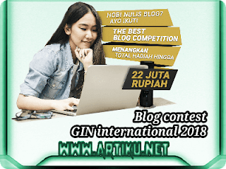 Lomba Blog GIN, juli, agustus, september, oktober 2018