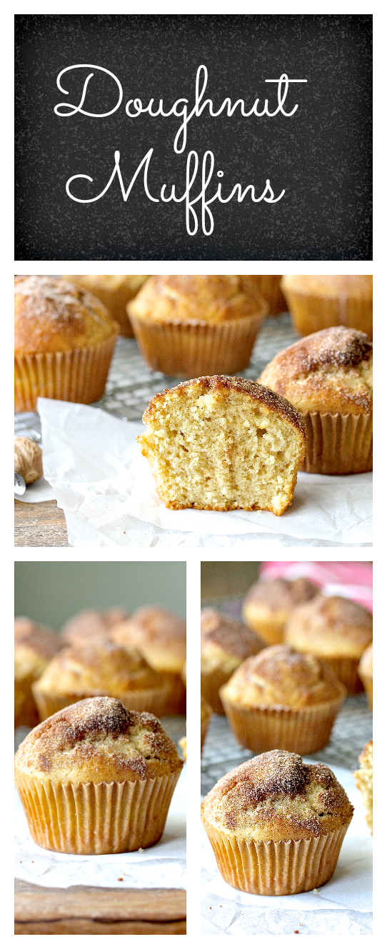 These Doughnut Muffins are the perfect way to get muffins with a cake doughnut flavor without all of the fuss.