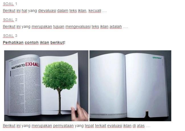 Struktur Teks Iklan Sebagai Berikut Kecuali - Berbagi Struktur