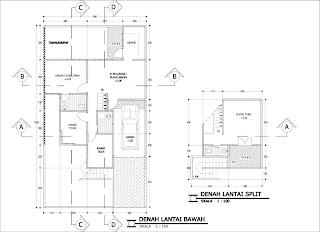Contoh desain rumah tipe 100 tidak bertingkat