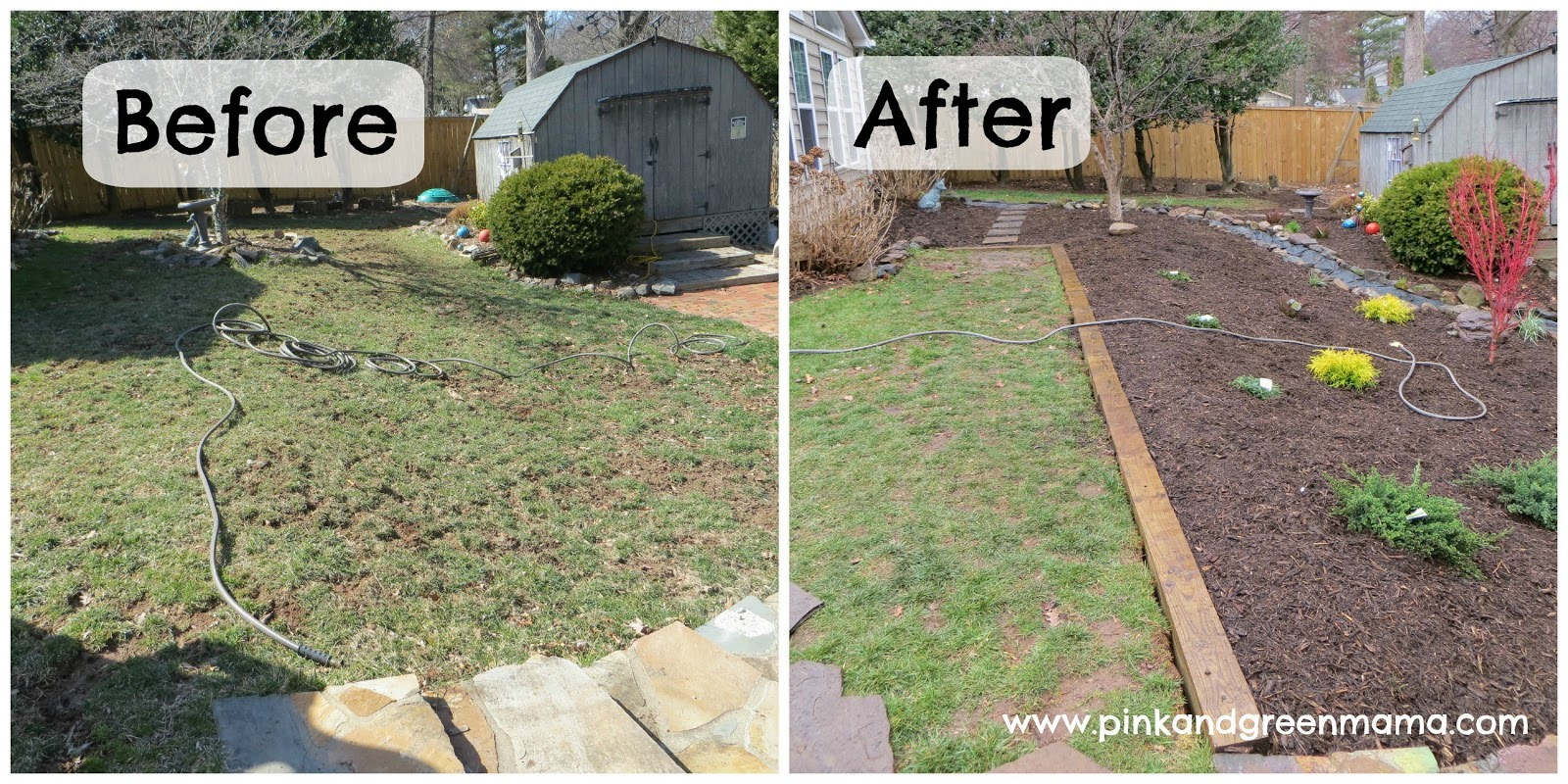 Pink and Green Mama: DIY Backyard Makeover on a Budget ... on Back Patio Ideas On A Budget id=94641