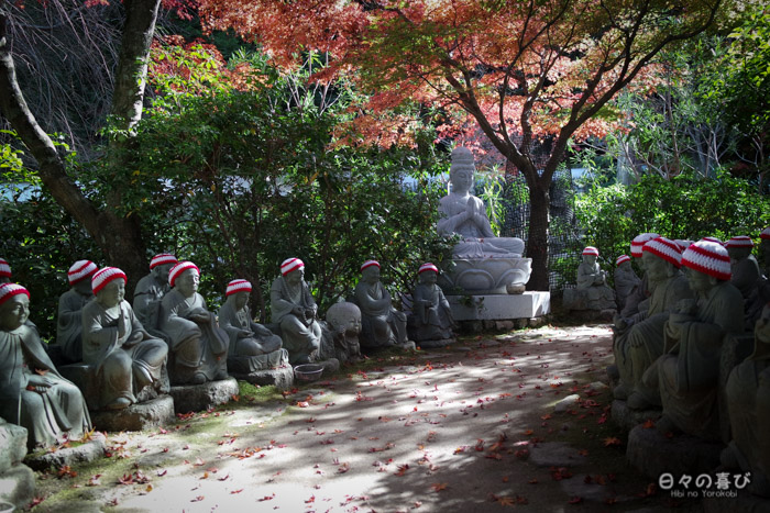Allée des 500 statues, temple Daisho-in, Miyajima, Hiroshima-ken