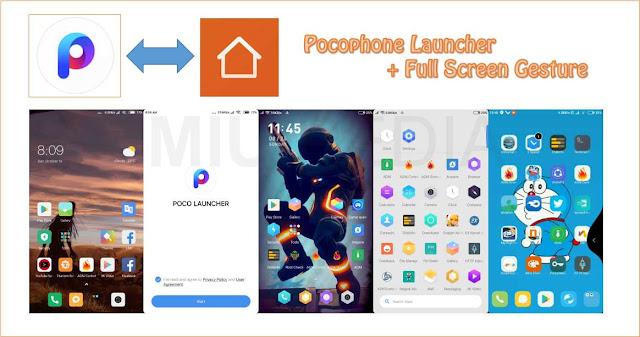 Cara install Launcher Pocophone ( App vault ) + Full Screen Gesture untuk Semua Android Tanpa Root