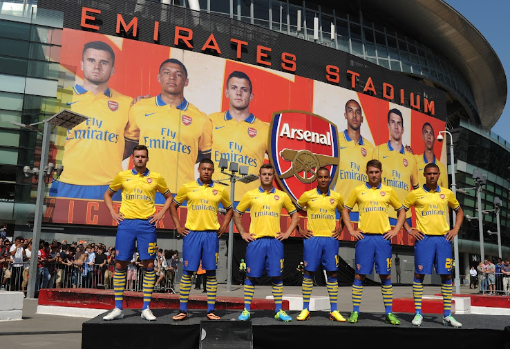 0f9d7fda1 Arsenal 13-14 (2013-14) Away Kit Released - Footy Headlines