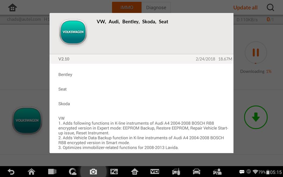 Auro OtoSys Diagnostic & Key Programming Tool: Auro OtoSys IM600 VAG