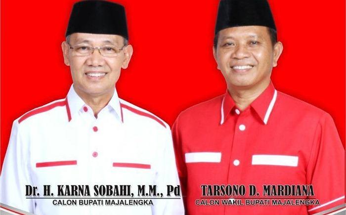 Dr. H Karna sobahi Unggul di Majalengka - IG