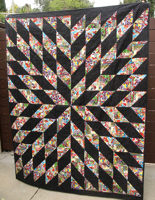 Starburst Quilt designed by Jenny of Missouri Quilt Co, Quilted By Ye Olde Sweatshop