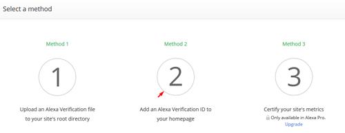 Select a method Alexa
