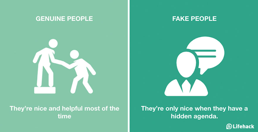 8 Great Ways to Tell If a Person is Fake or Genuine