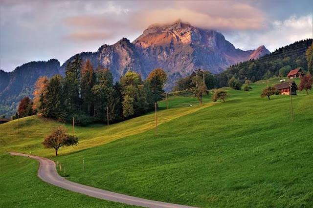 Gambar Pemandangan Alam Indah di Swiss Gunung Pilatus Mempesona