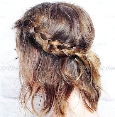Gaya rambut layer kepang
