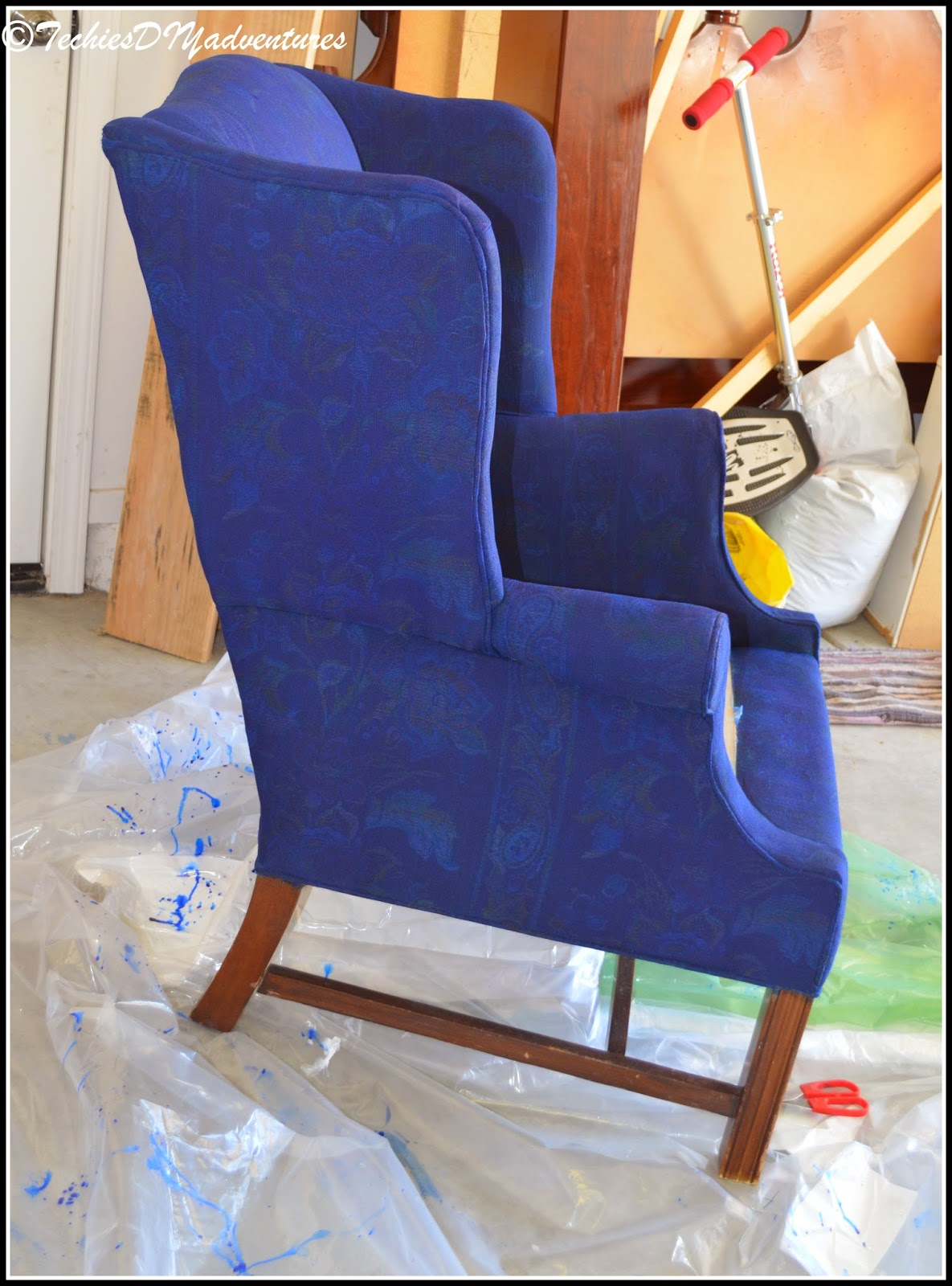 Painted Fabric Upholstered Wing Back Chair Pottery Barn