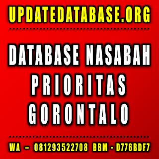Jual Database Nasabah Prioritas Gorontalo