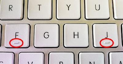 المطبّات الصّغيرة على لوحةِ المفاتيح