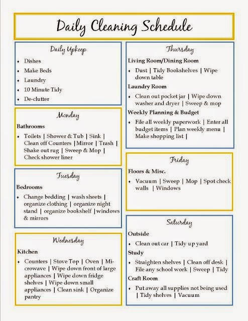 hover_share weight loss - daily cleaning schedule