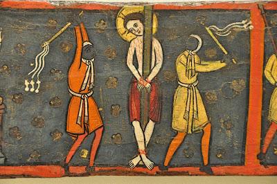 flagelacion de cristo azote latigo medieval pintura romanica