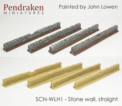 SCN-WLH1   Stone wall, straight (4 pieces)