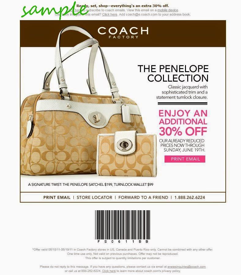 coach outlet coupon  printable