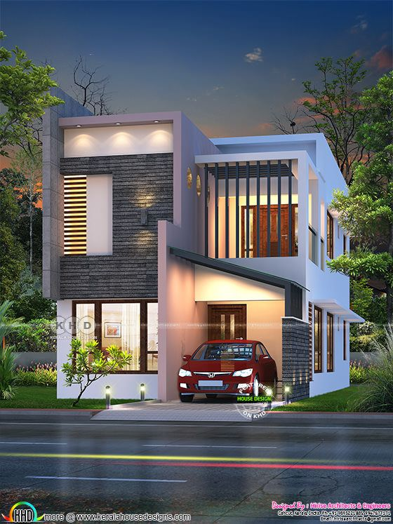 1460 sq-ft feet small ultra modern double storied house