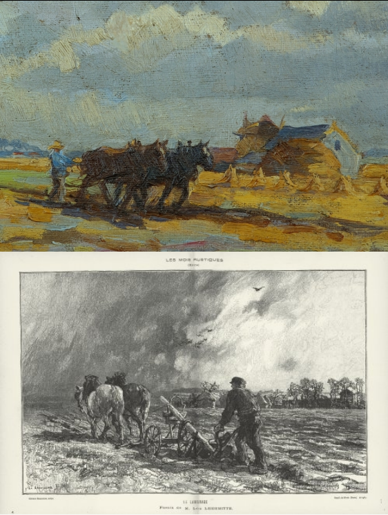 Vincent van Gogh and Léon Augustin Lhermitte - a comparison