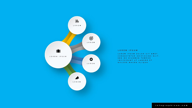 Infographic Organic Circular 4 Banner Options for PowerPoint Type A