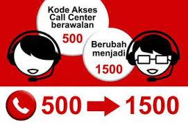 Kode Akses Center Atau Call Center Berawalan 500 Berubah Menjadi 1500
