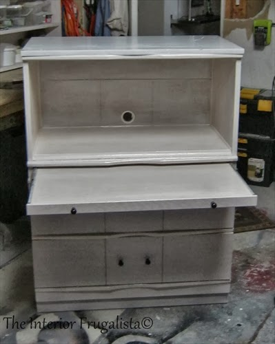 Vintage Dresser Turned Faux Secretary Makeover