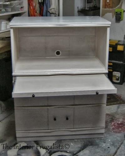 Vintage Dresser Turned Faux Secretary Makeover