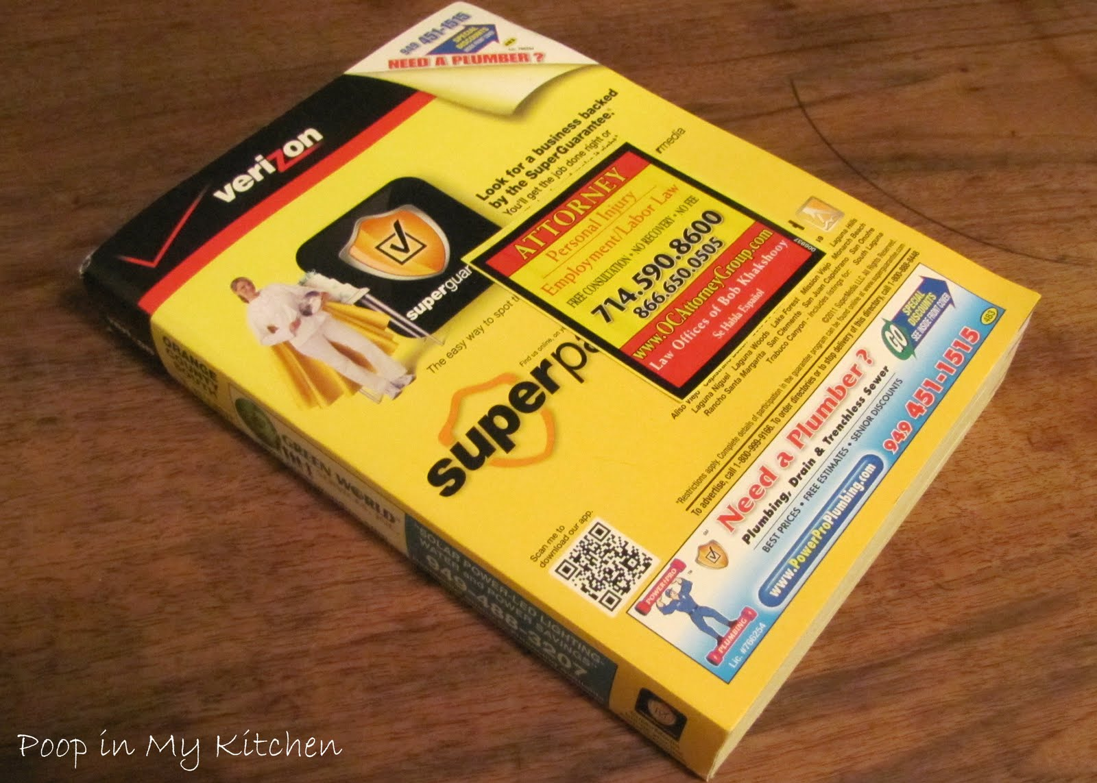 Poop in My Kitchen: Hot Legs' Phone Book and You'll Never Guess What Else