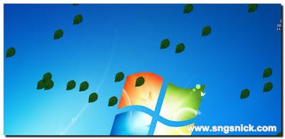 DesktopSnowOK 3.11 - Листья