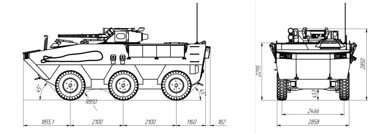 Представлено проект нового БТРу для морської піхоти