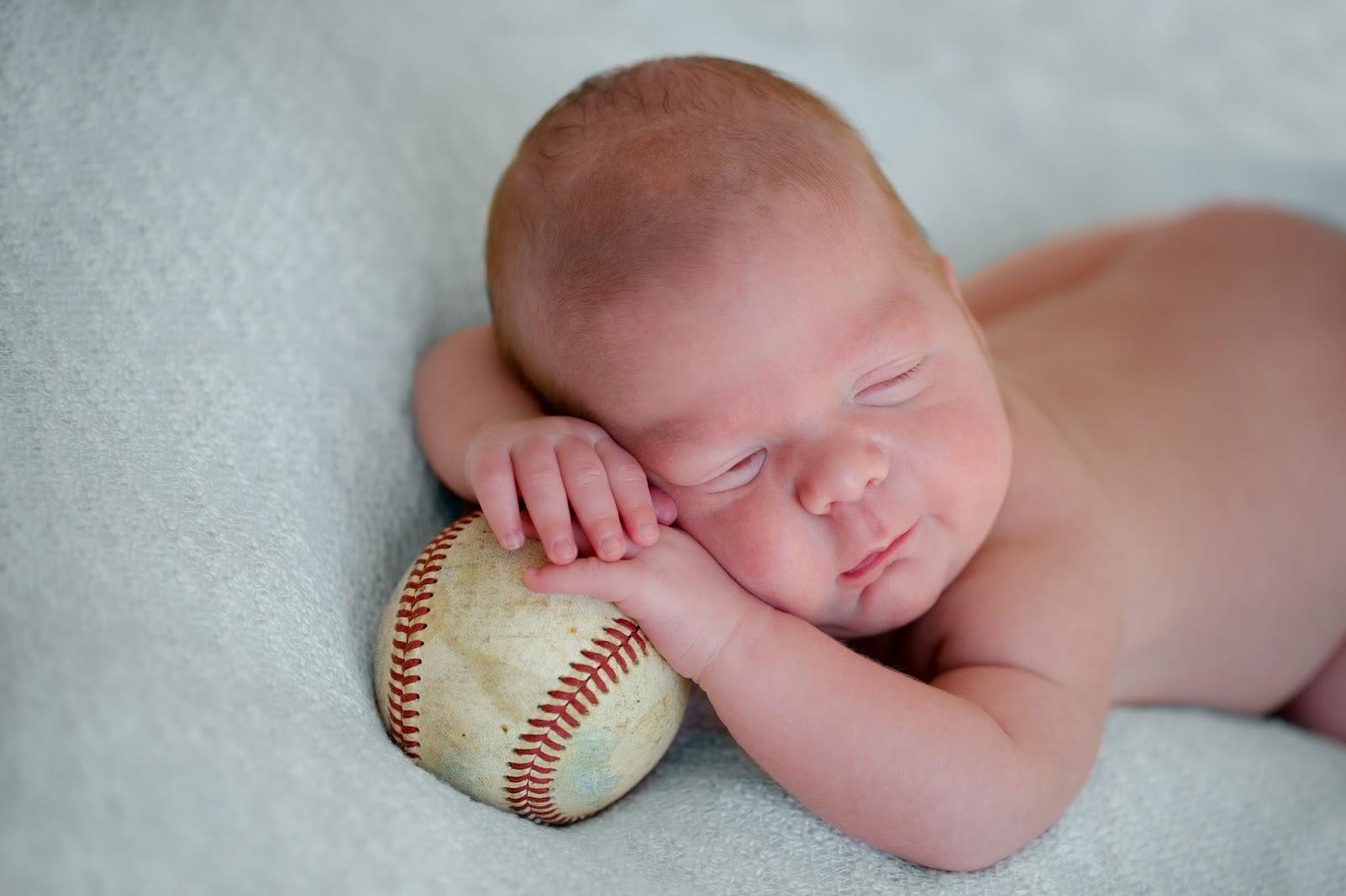 newborn baby boy softball