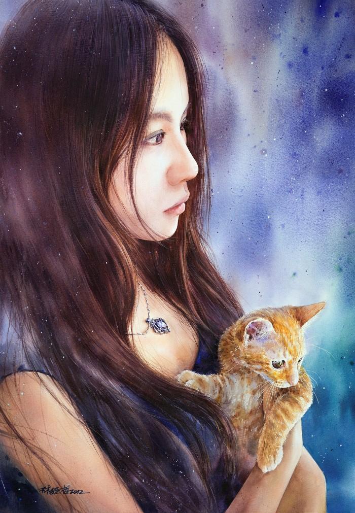 Акварельная живопись. Lin Ching Che 15