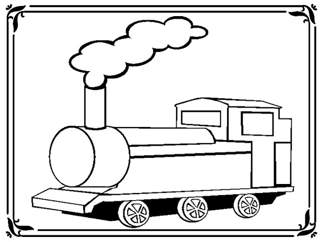 Train Coloring Book Pages