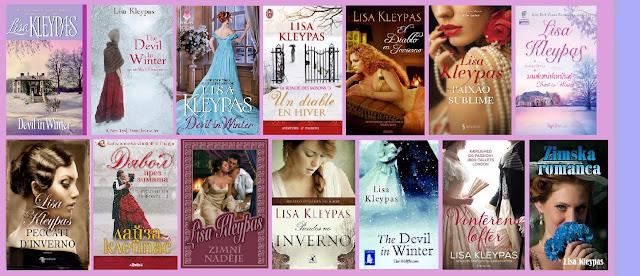Portadas del libro El diablo en invierno, de Lisa Kleypas