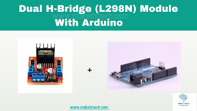 how to use l298 module motor driver with arduino