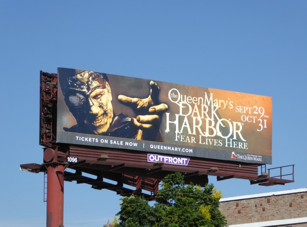 Queen Marys Dark Harbor Halloween 2016 billboard