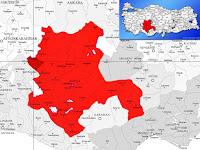 Akşehir ilçesinin nerede olduğunu gösteren harita