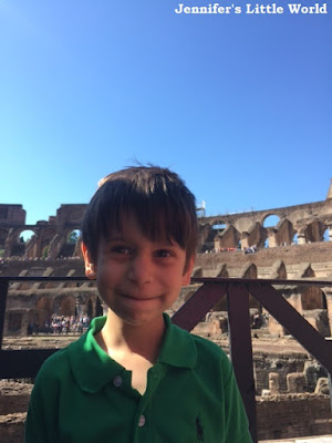 Taking a child to the Colosseum in Rome