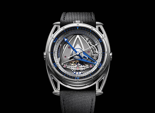 De Bethune DB28 GS Grand Bleu front view