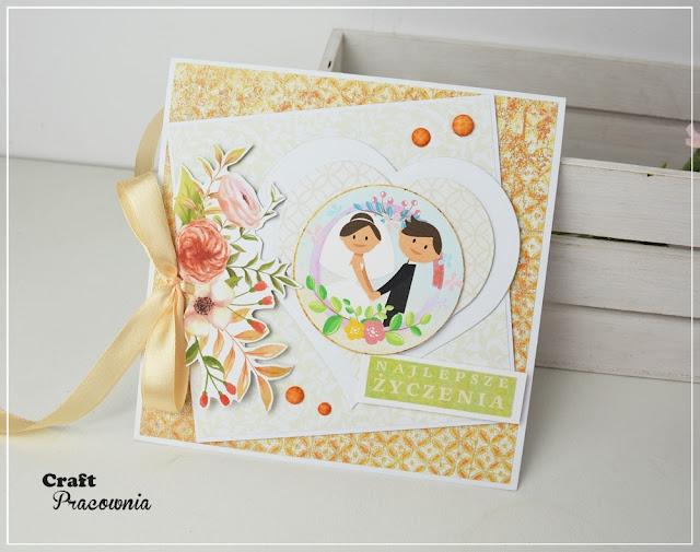 Ślubna kartka w jesiennych kolorach