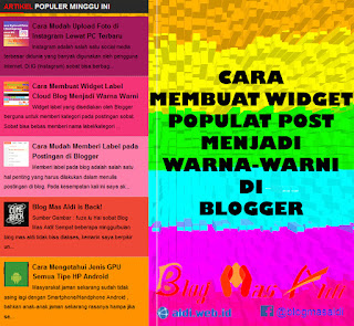 Mendesain Widget Popular Post Menjadi Warna Warni di Blog