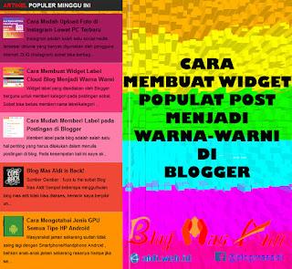 Mendesain Widget Popular Post Menjadi Warna Warni di Blog