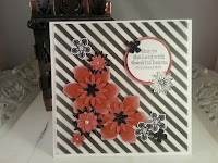 Artful Stampin Up flower punch petite petals blossom bunch card  paper pearls fun