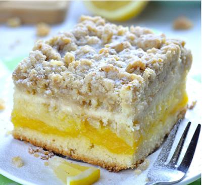 Lemon Coffee Cake #Dessert